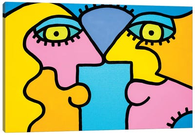 Sunset Couple Canvas Art Print