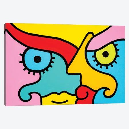 Thinking Canvas Print #BTA17} by Billy The Artist Canvas Art