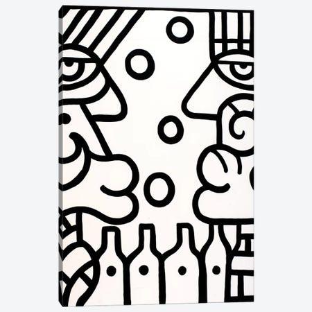 Wine Bar Canvas Print #BTA18} by Billy The Artist Canvas Print