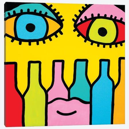 Wine Time Canvas Print #BTA19} by Billy The Artist Canvas Art Print