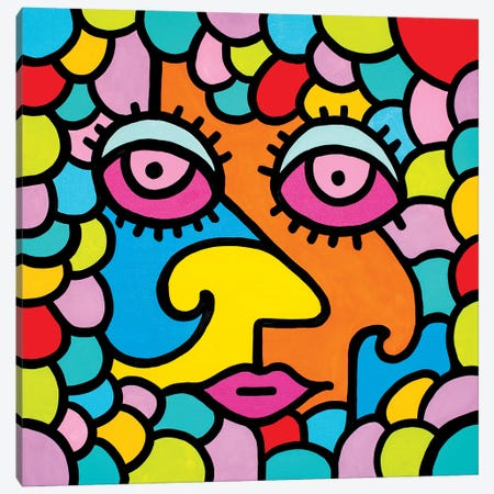 Flower Child Canvas Print #BTA1} by Billy The Artist Canvas Print