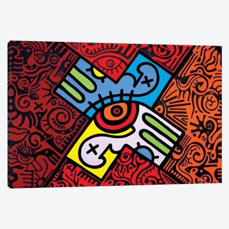 X Marks the Spot Canvas Print #BTA20} by Billy The Artist Canvas Art