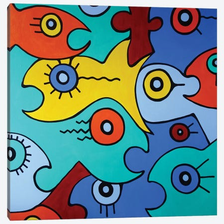 Big Fish Canvas Print #BTA21} by Billy The Artist Canvas Wall Art