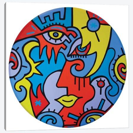 Circle Of Love Canvas Print #BTA24} by Billy The Artist Art Print