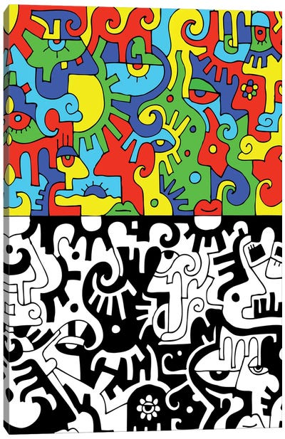 Color Into Black Canvas Art Print