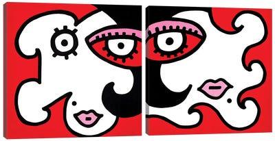 Mystery Girl Diptych Canvas Art Print