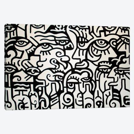 Happy Hour Canvas Print #BTA34} by Billy The Artist Canvas Wall Art