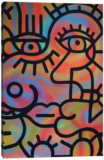 John And Sally Canvas Art Print
