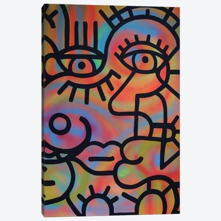 John And Sally Canvas Print #BTA40} by Billy The Artist Canvas Wall Art