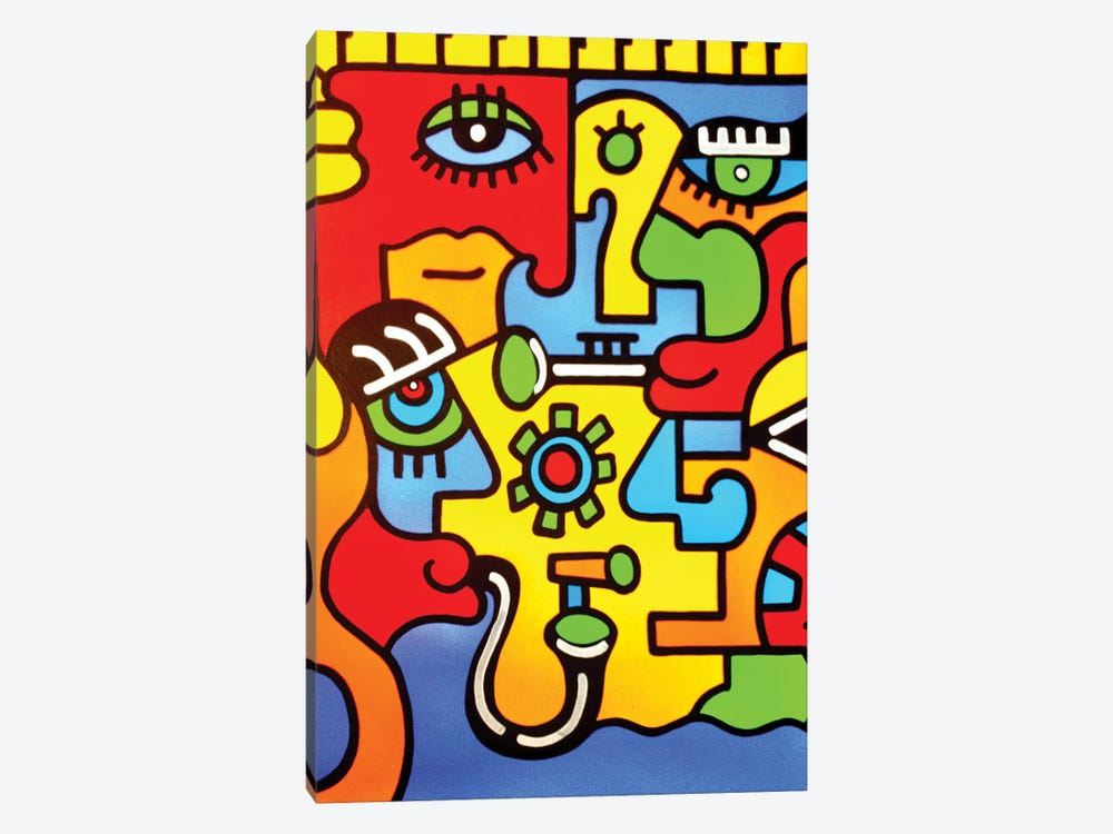 Montreux by Billy The Artist 1-piece Canvas Wall Art