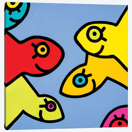 Little Fish I Canvas Print #BTA4} by Billy The Artist Canvas Art