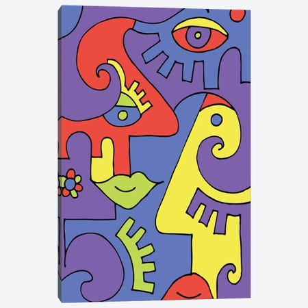 Space Canvas Print #BTA55} by Billy The Artist Canvas Art