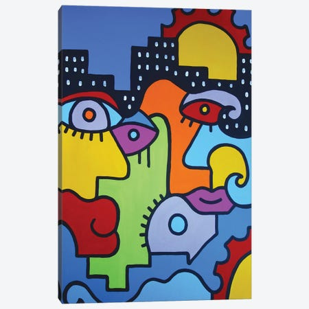Summer In The City II Canvas Print #BTA57} by Billy The Artist Canvas Wall Art