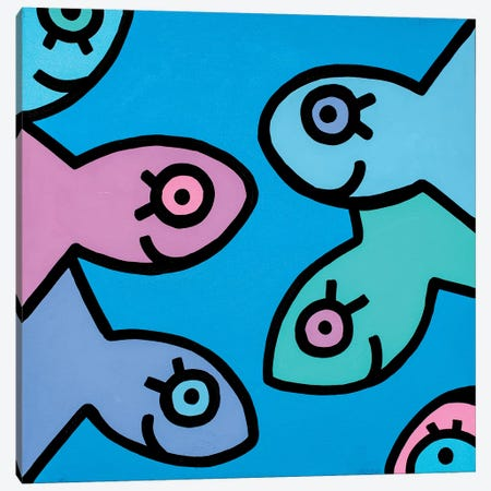 Little Fish II Canvas Print #BTA5} by Billy The Artist Canvas Art