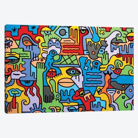 The City Canvas Print #BTA60} by Billy The Artist Canvas Art