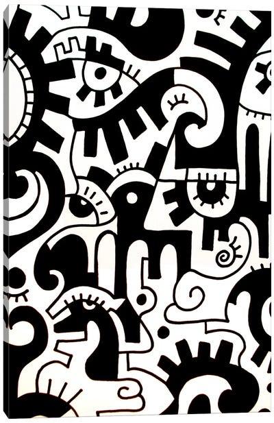 Thinking Canvas Art Print