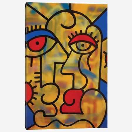 Trippy Couple Canvas Print #BTA66} by Billy The Artist Canvas Art Print