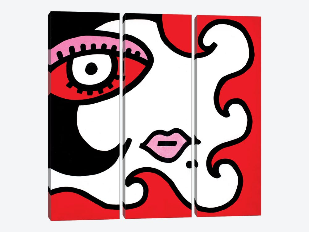 Mystery Girl II by Billy The Artist 3-piece Canvas Art Print