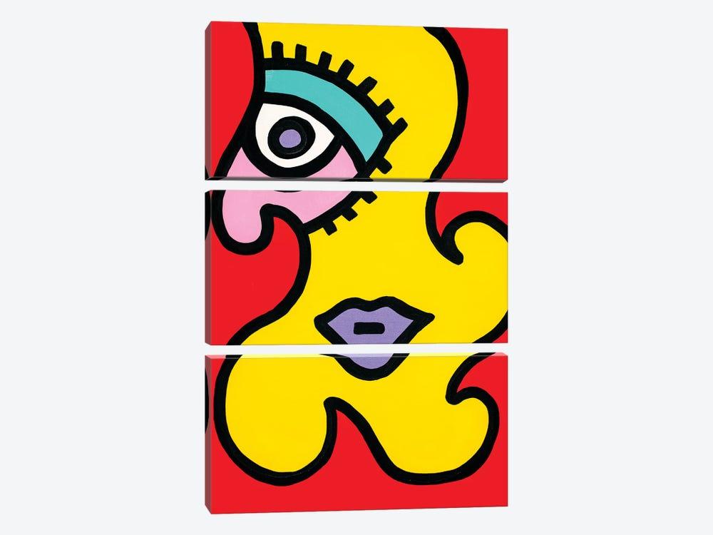 Scarlett by Billy The Artist 3-piece Art Print