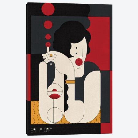 Cocktail Girl Canvas Print #BTG50} by John Battalgazi Art Print