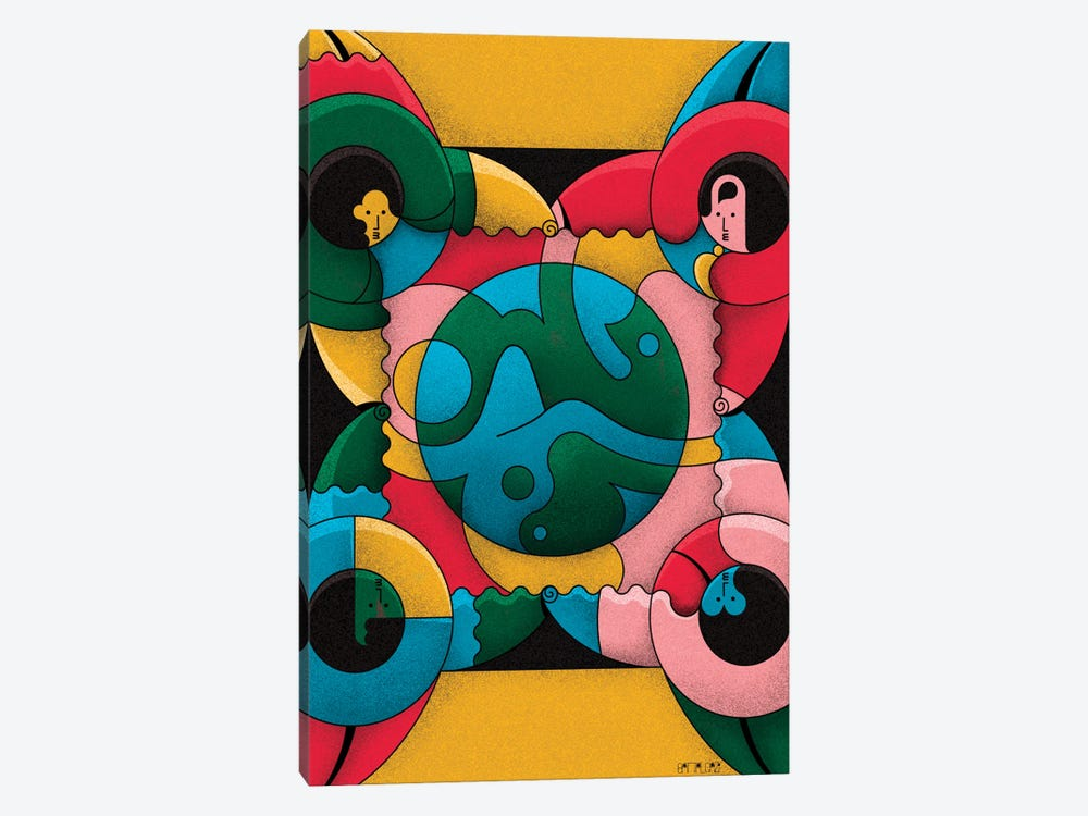 Together by John Battalgazi 1-piece Canvas Print
