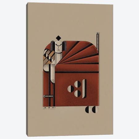 Red Samurai Canvas Print #BTG79} by John Battalgazi Canvas Print