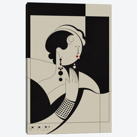 Louise II Canvas Print #BTG83} by John Battalgazi Canvas Wall Art
