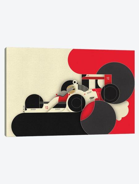 Ayrton XII Canvas Print #BTG91} by John Battalgazi Canvas Art Print