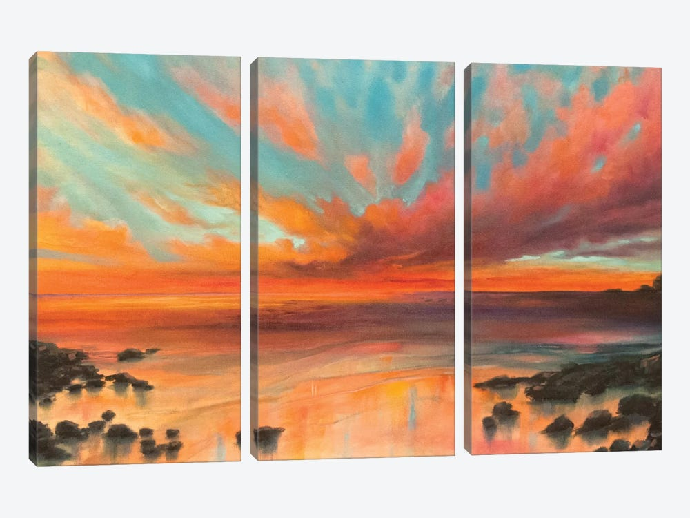 The Eternity Of Things by Marabeth Quin 3-piece Canvas Art