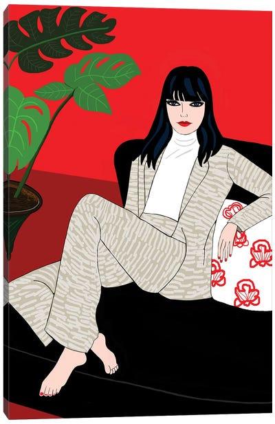 Portrait Of Make Up Artist Lucia Pica Canvas Art Print