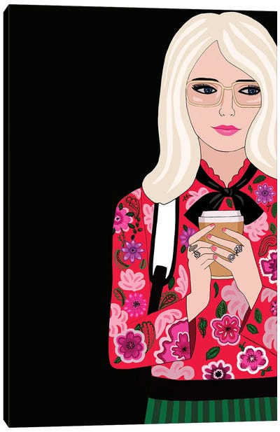 Gucci Woman With Coffee Canvas Art Print
