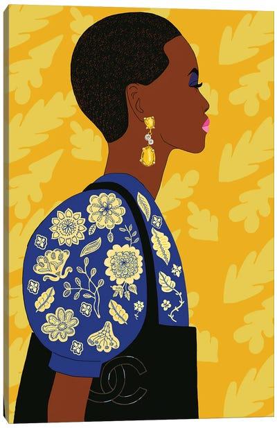 Portrait Of Super Model Adut Akech Canvas Art Print