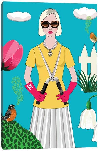 The Socialite Gardener Canvas Art Print