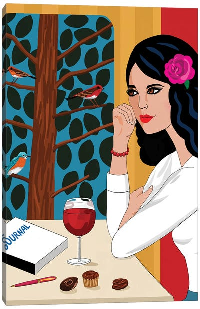 Red Wine Therapy Canvas Art Print