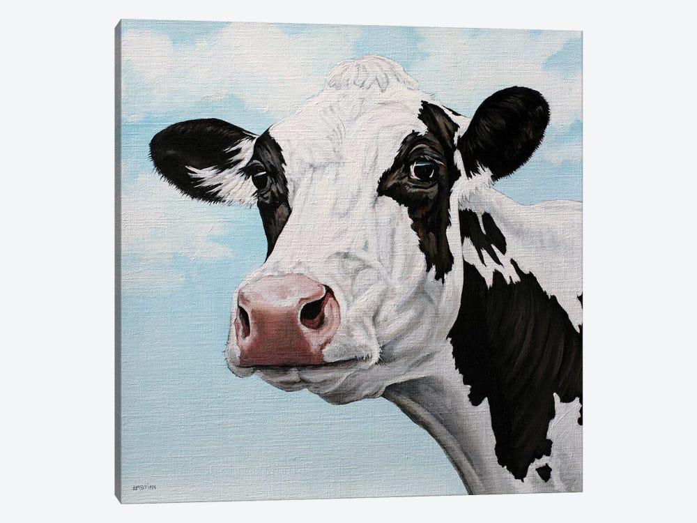 Dairy Cow by Clara Bastian 1-piece Canvas Art Print