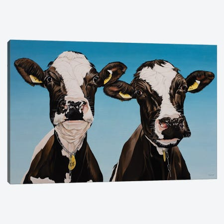Daisy And Bella Canvas Print #BTN12} by Clara Bastian Canvas Artwork