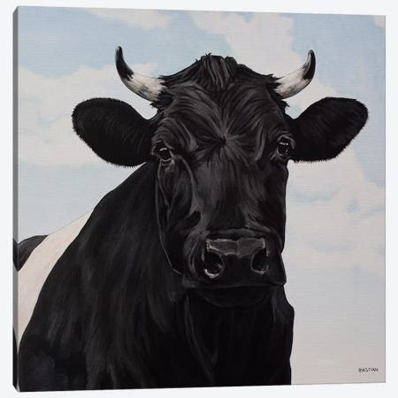 Dutch Belted Cow 3-Piece Canvas #BTN14} by Clara Bastian Canvas Art Print