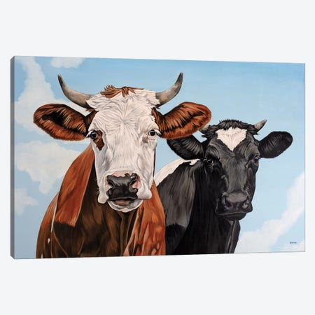 Ginger And Bessie 3-Piece Canvas #BTN17} by Clara Bastian Canvas Art Print