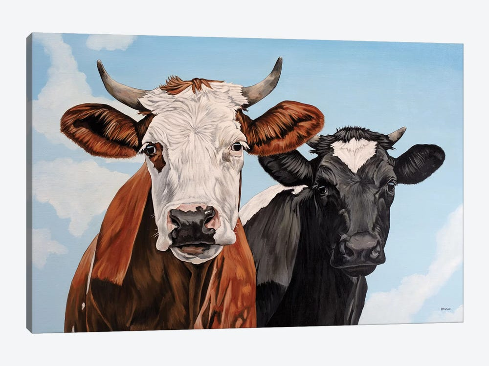Ginger And Bessie by Clara Bastian 1-piece Canvas Print