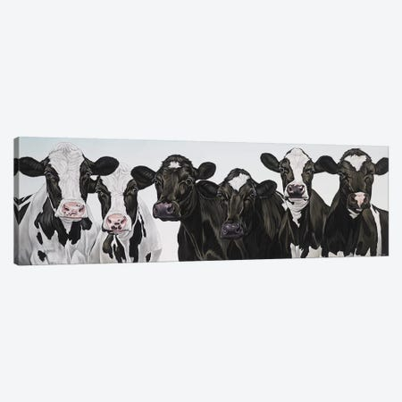 Herd Of Cows Canvas Print #BTN19} by Clara Bastian Canvas Art