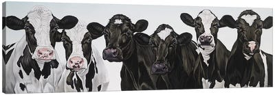 Herd Of Cows Canvas Art Print