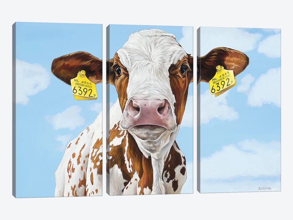 A Pair Of Dangly Earrings by Clara Bastian 3-piece Canvas Wall Art