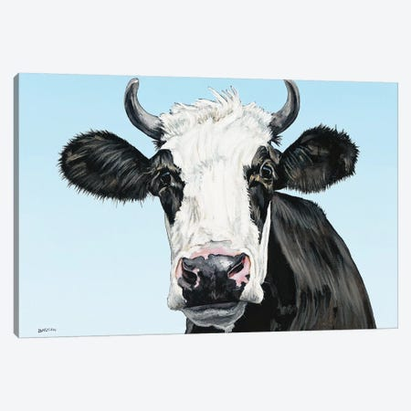 Moo Canvas Print #BTN27} by Clara Bastian Canvas Artwork