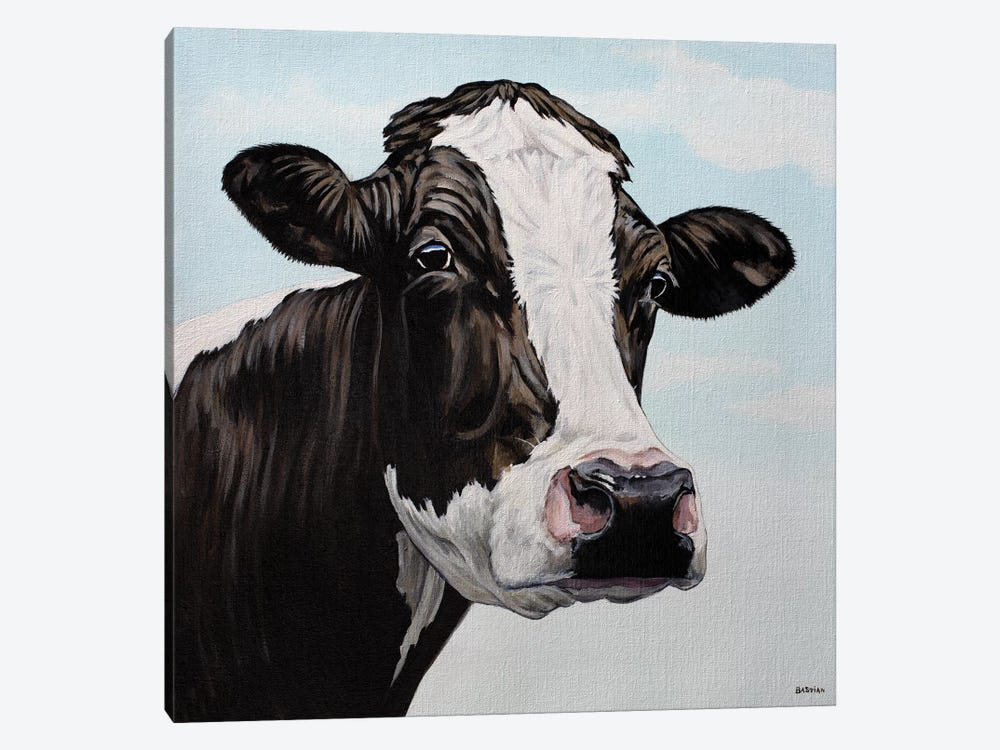 Moo Cow by Clara Bastian 1-piece Canvas Art Print