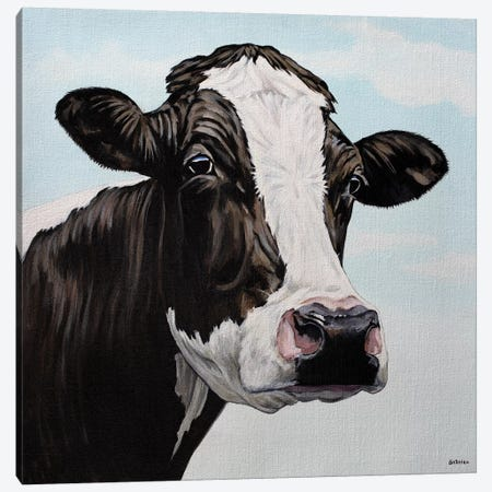 Moo Cow Canvas Print #BTN28} by Clara Bastian Art Print