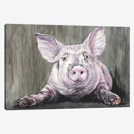 Pig Canvas Print #BTN32} by Clara Bastian Canvas Wall Art