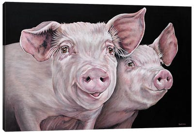 Pirky And Porky Canvas Art Print