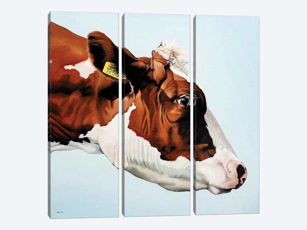 Profile Cow by Clara Bastian 3-piece Canvas Wall Art