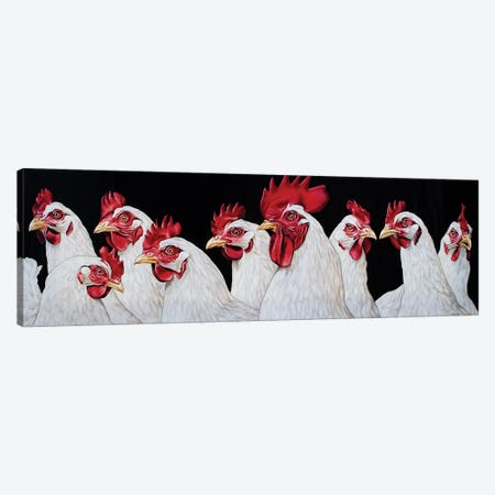 Rooster And Harem Canvas Print #BTN36} by Clara Bastian Art Print