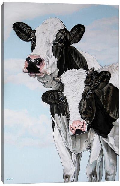 Cow Love Canvas Art Print